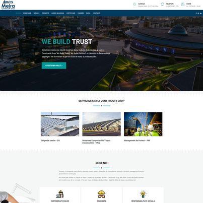 Design site web  companie constructii - Meira Constructii Grup