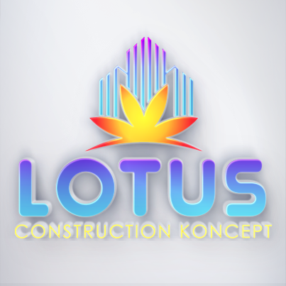 Creare Design Logo 3D compania de constructii civile Lotus Construction