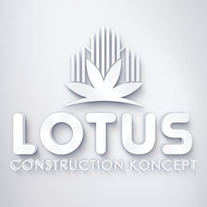 Concepere Design Logo 3D compania Lotus Construction