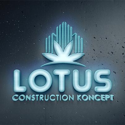 Concept Design Logo 3D pentru compania de constructii Lotus Construction