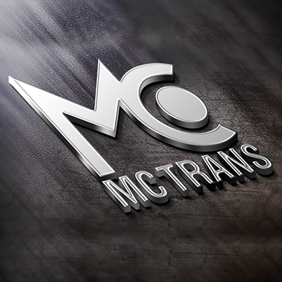Concept Design Logo 3D companie transporturi rutiere MC TRANS