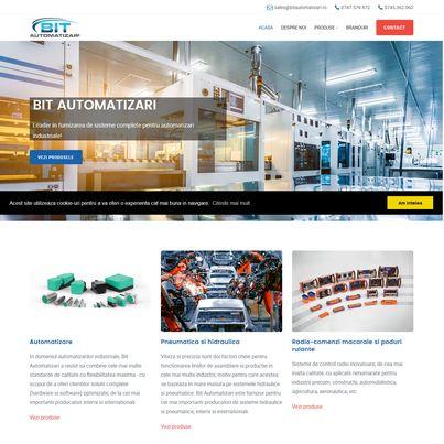 Design site web furnizor sisteme automatizari industriale - Bit Automatizari