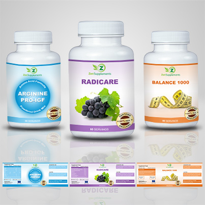 Design eticheta suplimente nutritive Radicare