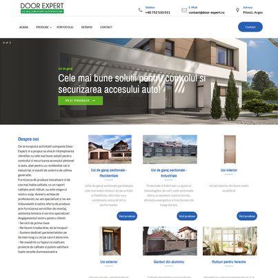 Design site web de prezentare furnizor usi de garaj - Door Expert
