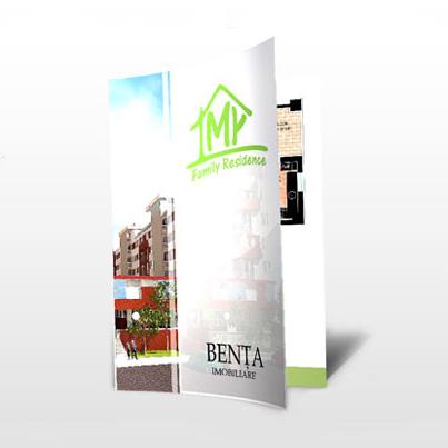 Design brosura dezvoltator imobiliar My Family Residence