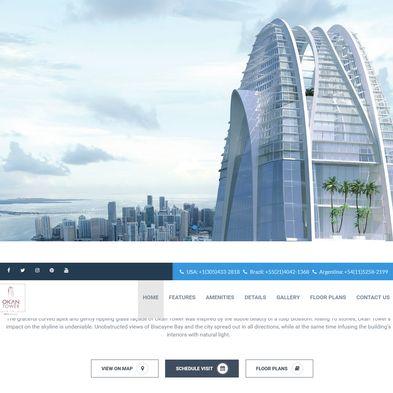 Design site web de prezentare proiect imobiliar - Okan Tower Miami