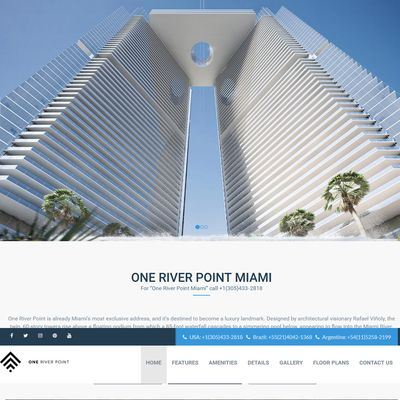 Design site web de prezentare proiect rezidential - One River Point Miami