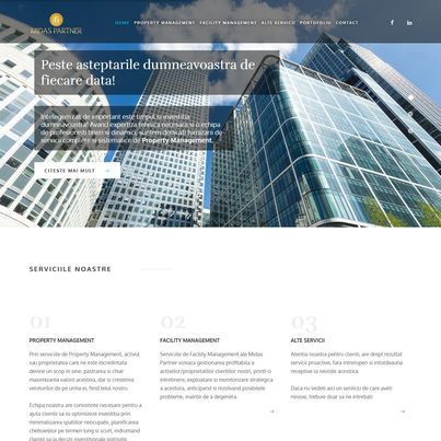 Creare site web de prezentare companie property management – Midas Partner