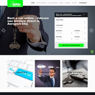 Design site web de prezentare firma Rent A Car - Niraj