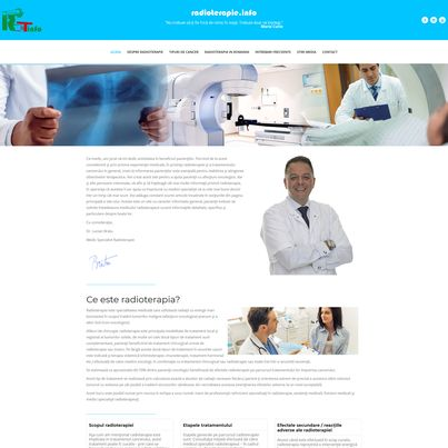 Design site web medical informativ - Radioterapie.info