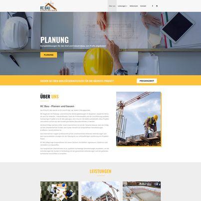 Design site web de prezentare firma constructii - RC BAU