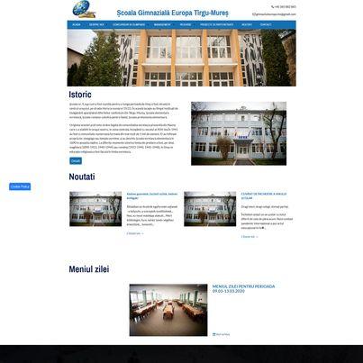 Design site web de prezentare - Scoala Gimnaziala Europa
