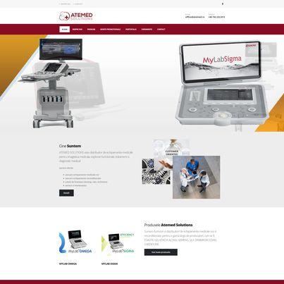 Design site web furnizor echipamente medicale - ATEMED SOLUTIONS