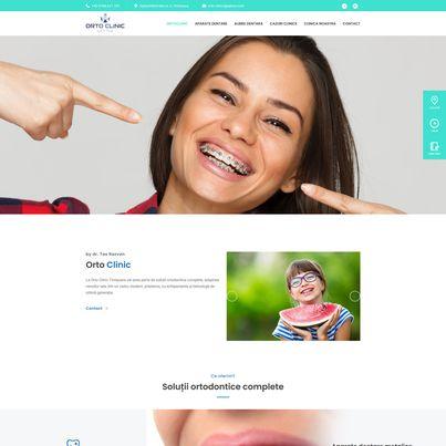 Design site web de prezentare clinica ortodontie - Orto Clinic