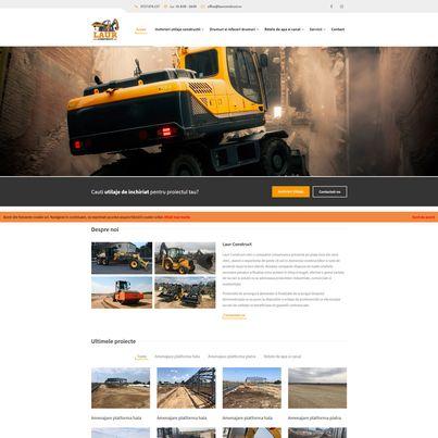 Design site web companie constructii - LAUR CONSTRUCT