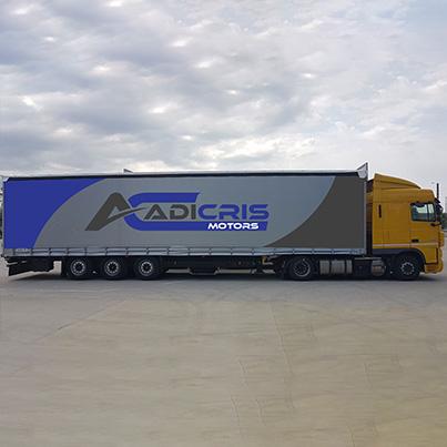 Design colantare auto camion de mare tonaj pentru compania de transport Adicris Motors