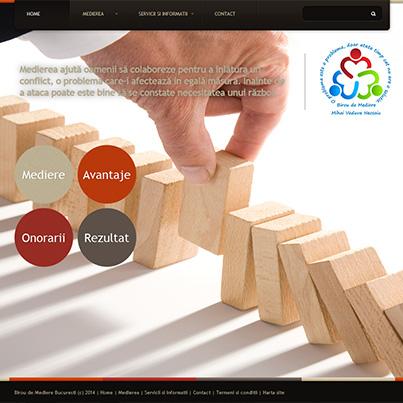 Design site web birou mediator Bucuresti
