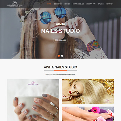 Design site web de prezentare salon de infrumusetare - Aisha Nails Studio