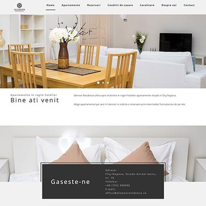 Design site web de prezentare hotel - Aleman Residence