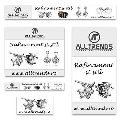 Design banner publicitar magazin online bijuterii - Alltrends