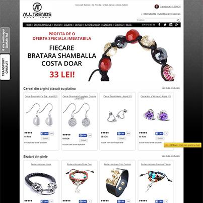 Design site ecommerce accesorii fashion si bijuterii - Alltrends