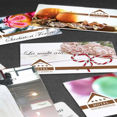 Design carduri hotel Sinaia Bowling Club