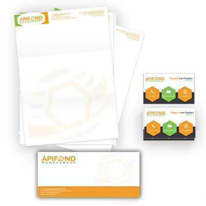 Design identitate companie  firma de consultanta in domeniul apicol - Apifond Management
