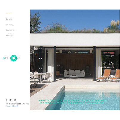 Design site web de prezentare studio de arhitectura - ARHIPOINT MANAGEMENT