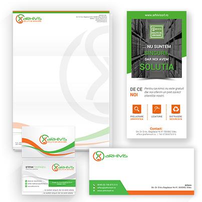 Design identitate companie solutii externalizate de arhivare - Arhivis