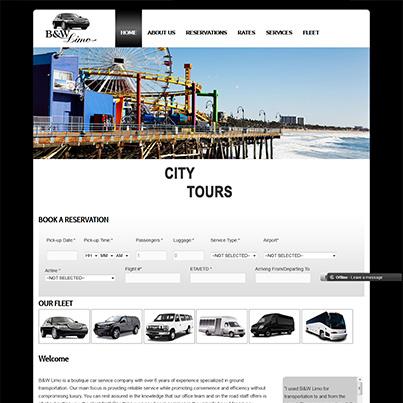 Creare site web inchiriere limuzine