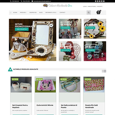 Design site web vanzari online cadouri handmade