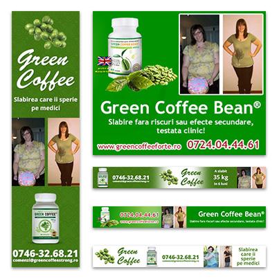 Design banner suplimente pentru slabire si detoxifiere - Green Coffee Bean