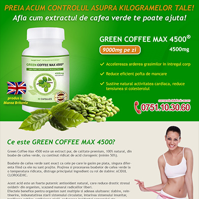 Design Newsletter promovare supliment alimentar - Green Coffee