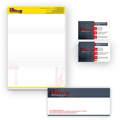 Design identitate companie formare profesionala - Calificari Deserventi