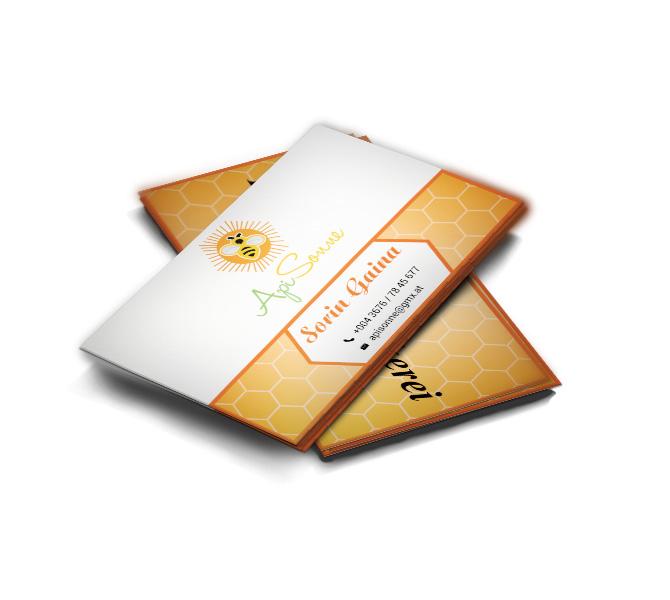 Design carte vizita producator miere de albine si produse apicole - Api Sonne