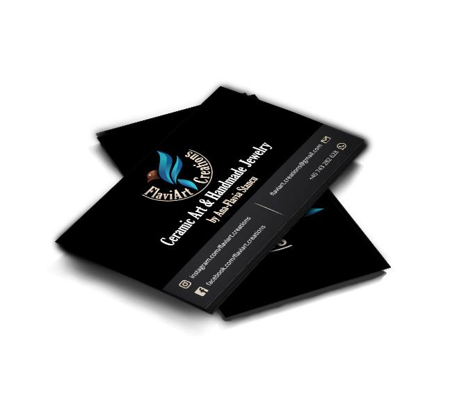 Design carte de vizita artist plastic si designer de bijuterii - Flaviart Creations