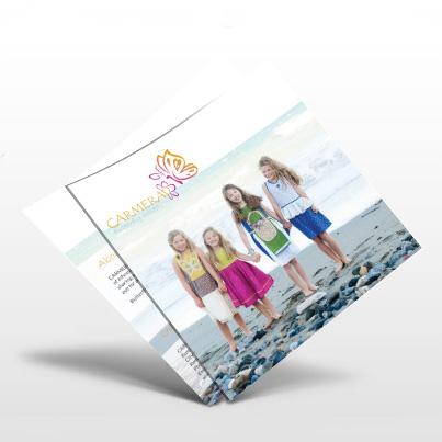 Design brosura atelier de creatie imbracaminte copii - Carmerad
