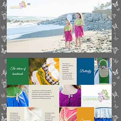 Design site web de prezentare atelier de creatie vestimentara pentru copii - Carmerad