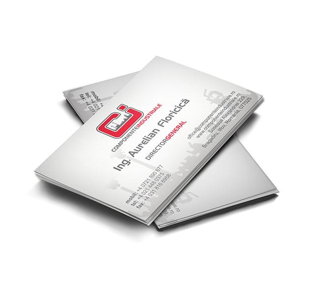 Carte de vizita furnizor produse tehnice Componente Industriale