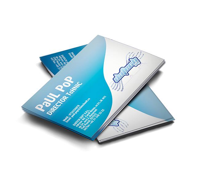 Carte de vizita specialist automatizari industriale Datech Soft