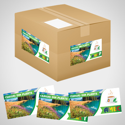 Design eticheta ceaiuri din plante - Amec