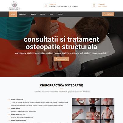 Design site web de prezentare cabinet chiropractica si osteopatie - Chiropractica Osteopatie