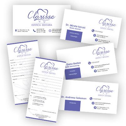 Design identitate companie cabinet stomatologic - Clarisse