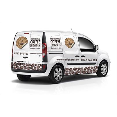 Design colantare auto distribuitor cafea - Coffee Distrib Solutions