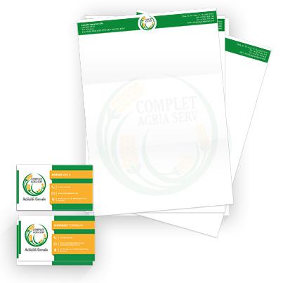 Creare identitate vizuala firma achizitie cereale - Complet Agria Serv