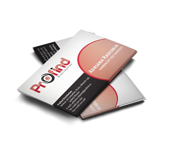 Creare carti de vizita firma distributie Profind Distributie