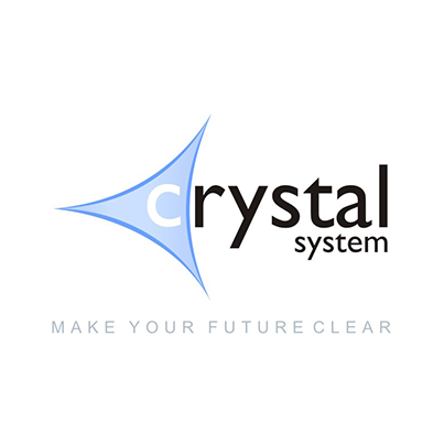Creare emblema firma consultanta IT Crystal System
