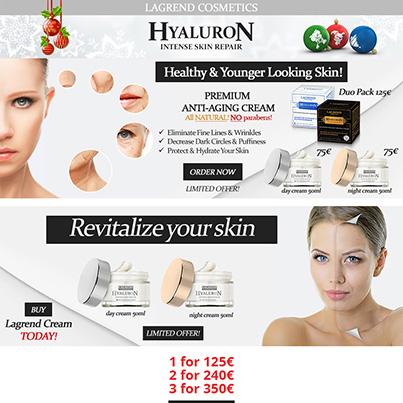 Design Newsletter brand creme ingrijire faciala - Lagrend Cosmetics
