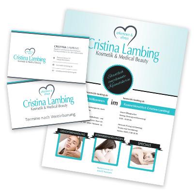 Design identitate companie Cristina Lambing -  cabinet cosmetica si estetica medicala