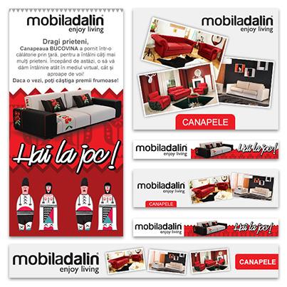 Design banner publicitar produse companie producatoare de mobilier - Mobila Dalin